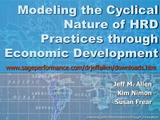 Modeling the Cyclical Nature of HRD Practices through Economic Development