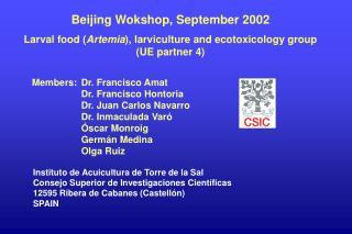 Beijing Wokshop, September 2002