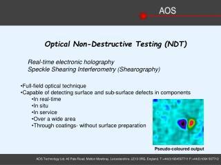 Optical Non-Destructive Testing (NDT)