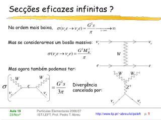 Secções eficazes infinitas ?
