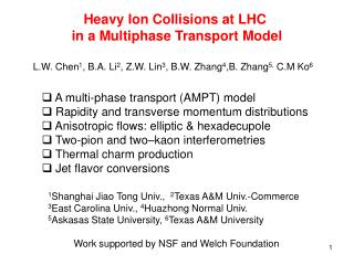 Heavy Ion Collisions at LHC  in a Multiphase Transport Model