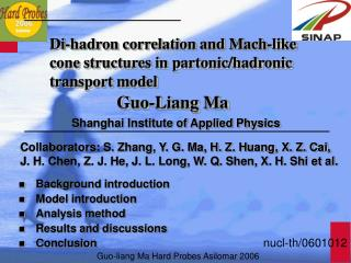Di-hadron correlation and Mach-like cone structures in partonic/hadronic transport model