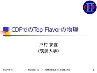 CDF での Top Flavor の物理