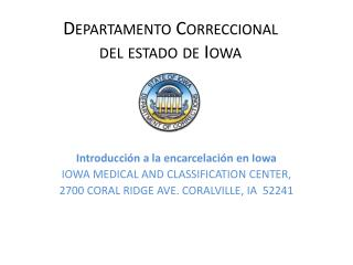 Departamento Correccional  del estado de Iowa