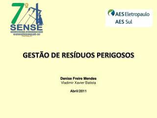GESTÃO DE RESÍDUOS PERIGOSOS