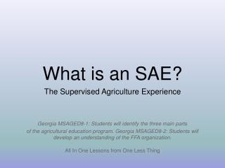 What is an SAE?