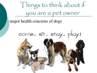 Things to think about if you are a pet owner