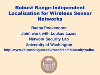 Robust Range-Independent Localization for Wireless Sensor Networks