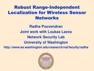Robust Range-Independent Localization for Wireless Sensor Networks