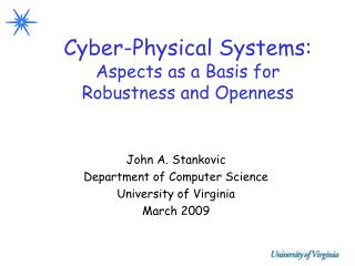 Cyber-Physical Systems: Aspects as a Basis for Robustness and Openness
