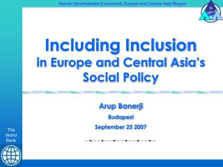 Including Inclusion in Europe and Central Asia's Social Policy
