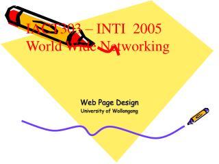 Web Page Design University of Wollongong