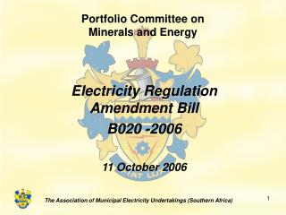 Portfolio Committee on Minerals and Energy