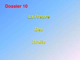 Dossier 10