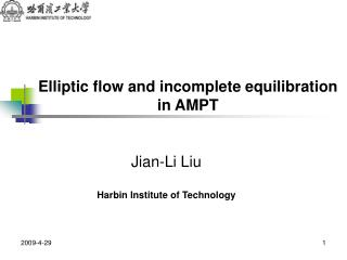 Elliptic flow and incomplete equilibration  in AMPT