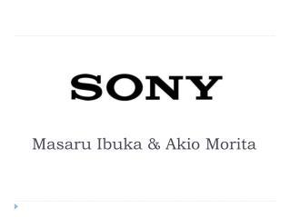 Masaru Ibuka & Akio Morita