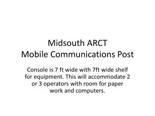 Midsouth ARCT Mobile Communications Post