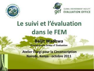 Le suivi et l'évaluation dans le FEM
