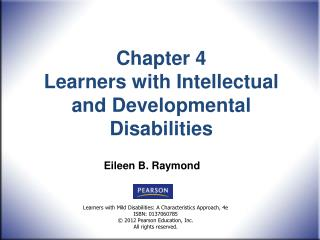Chapter 4  Learners with Intellectual and Developmental Disabilities