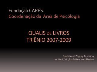 QUALIS de LIVROS TRIÊNIO 2007-2009