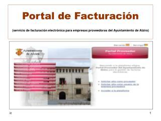 Portal de Facturación Índice