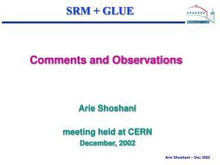 SRM + GLUE