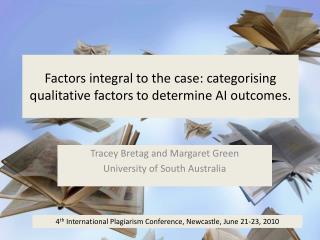 Factors integral to the case: categorising qualitative factors to determine AI outcomes.