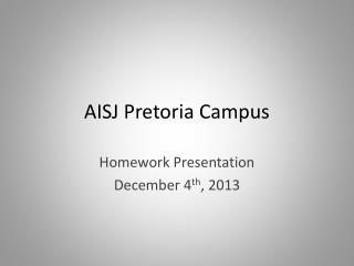AISJ Pretoria Campus