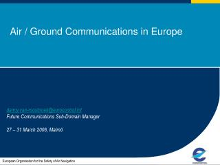 Air / Ground Communications in Europe