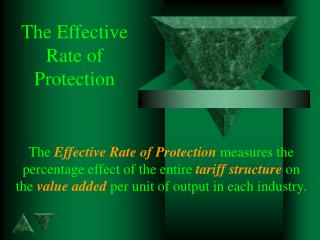 The Effective  Rate of  Protection