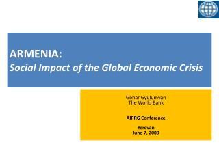 ARMENIA: Social Impact of the Global Economic Crisis