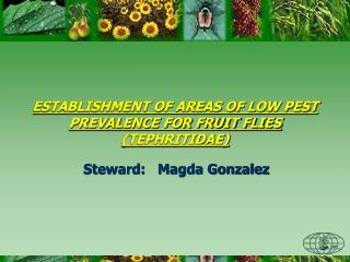 ESTABLISHMENT OF AREAS OF LOW PEST PREVALENCE FOR FRUIT FLIES (TEPHRITIDAE)