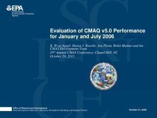 Evaluation of CMAQ v5.0 Performance for January and July 2006
