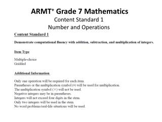 ARMT +  Grade  7  Mathematics