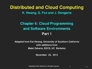 Parallel Computing and Programming  Enviroments