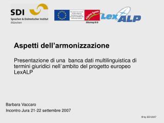 Barbara Vaccaro Incontro Jura 21-22 settembre 2007
