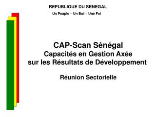 REPUBLIQUE DU SENEGAL