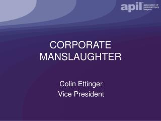 law corporate manslaughter