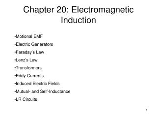 Chapter 20: Electromagnetic Induction