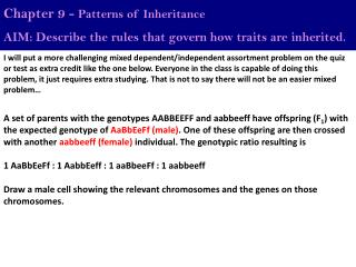 Chapter 9 -  Patterns of Inheritance