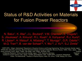 Status of R&D Activities on Materials for Fusion Power Reactors