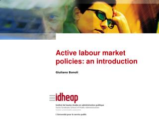 Active labour market policies: an introduction