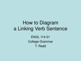 How to Diagram  a Linking Verb Sentence