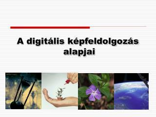A digitális képfeldolgozás  alapjai