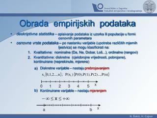 Obrada  empirijskih  podataka