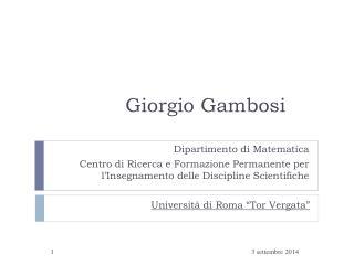Giorgio Gambosi