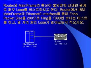 IBM Mainframe IP:100.1.1.100