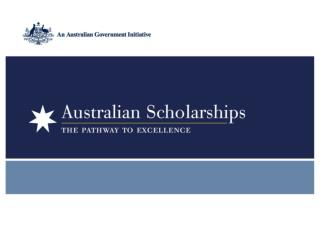 Overview of  Australian Scholarships
