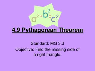 4.9 Pythagorean Theorem
