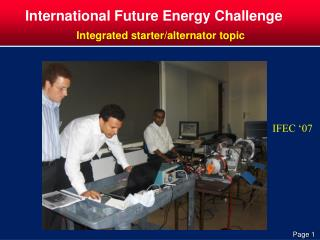 International Future Energy Challenge